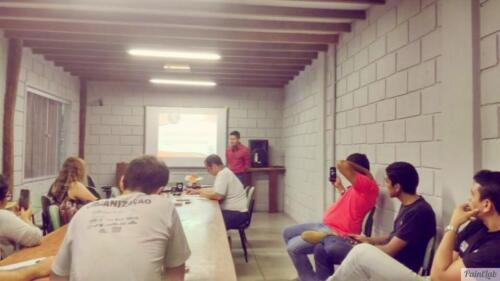 Reunião de trabalho com a equipe